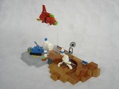 Faraway moon microbase (fdsm0376) Tags: brickpirate bpchallenge lego moc micro space classic moon base