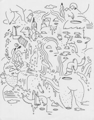 doodle by jimmy thompson (elevatoro) Tags: jimmy art drawing thompson doodle ink paper psychedalic