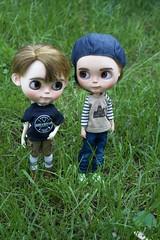 Wesley and Cameron (Chassy Cat) Tags: chassycat custom customized blythe doll boy pureneemo boybody s honeybunny nickylad scalp eyechips