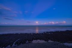 Moon Rising (dan mathias) Tags: moody moon moonrise seascape sea ocean england kingsdown ken kent nightphotographer photography longexposure sonya7ii zeiss zeiss1635