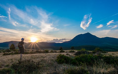 Summer end (TotoFABRE) Tags: auvergne puy puydedome nature fujifilm fuji xm1 sunset alone sky clouds clermontfd unesco summer été france