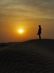 Indian Desert Sunset (seantindale) Tags: jaisalmer india rajasthan desert sunset sand dune olympus omdem5markii people silhouette travel