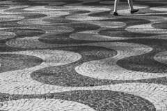 Every Breaking Wave (sdupimages) Tags: noirblanc blackwhite noiretblanc rue street lisboa lisbonne lisbon travel voyage bw nb monochrome feet