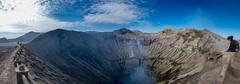 Mt Bromo Panorama (Benicio Murray) Tags: panorama pano mountain volcano surabaya indonesia java landscape fuji xt2 sky travel