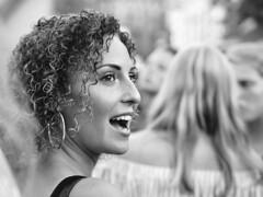 Hey hi! (d_t_vos) Tags: woman youngwoman teen teenager girl mouthopen eyes curlyhair earrings outside street streetphotography streetportrait candid dof naturallight people monochrome groningen akerkhof ah hi bye keiweek kei keiparade blond blonde contrast strap shoulderstrap shoulder sunnyday dickvos dtvos cute belle