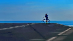 Looking at the horizon (gerard eder) Tags: world travel reise viajes europa europe españa spain spanien städte stadtlandschaft street streetlife streetart minimalism barcelona bicycle city ciudades cityview horizon urban urbanlife urbanview blue outdoor