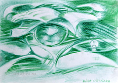 """Solaris"" (alice 240) Tags: drawing illustration pencilonpaper magic traditionalart dream contemporaryart face alice240 atelier240art art alicealicjacieliczka solaris expressionism modernart visualpoetry expression surrealism artistic museum artist gallery creative poetry"