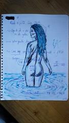La mujer de azul... Maneras distintas de dibujar... Aprovechando tinta de boli roto, marcamos silueta con tinta y papel, para después bosquejarlo un poco con óleo. . Bocetos... . #draw  #artlovers #artdaily #artist  #artoftheday #artofinstagram #drawing # (egc2607) Tags: blue sketch oilpainting artwork eau art color tattoo fitnessgirl artdaily artphoto artlovers artoftheday photography artist painter painting sensualidad oleo instaart drawing hairstyle zaragoza фотография fotografia beautifulgirl woman sensuality artofinstagram draw