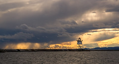 Grand Marais Light (Paul Domsten) Tags: minnesota grandmarais northshore pentax lakesuperior clouds sunset lighthouse