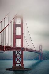 Golden Gate Bridge on a foggy day (RaNdomVan) Tags: golden gate bridge san francisco foggy fog frisco nebel