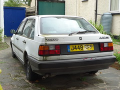 1992 Volvo 440 Si Auto (Neil's classics) Tags: vehicle 1992 volvo 440 si abandoned