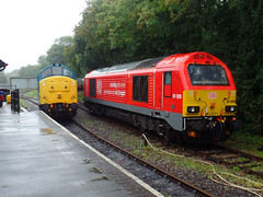 37142 & 67028 Bodmin Parkway (2) (Marky7890) Tags: 67028 class67 dbcargo diesellocomotive bodminwenfordrailway bodmin bodminparkway cornwall train