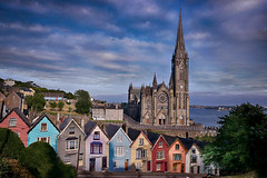 Deck of Cards and St Colman's Cathedral (lfeng1014) Tags: deckofcardsandstcolman'scathedral deckofcards stcolman'scathedral cobhcathedral cobh cork ireland church colourfulhouses steepstreet northatlanticocean landscape canon5dmarkiii travel lifeng ef1635mmf28liiusm building houses
