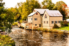Old Mill (gabi-h) Tags: oldmill river trees autumn quintewest gabih architecture water runningwater landscape peaceful fallfoliage