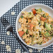 Cauliflower Salad wiht Avocado and Tomatoe Top View