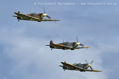 7458 Spitfires (photozone72) Tags: duxford iwmduxford warbirds wwii spitfire canon canon7dmk2 canon100400f4556lii 7dmk2 airshows aircraft airshow