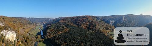 Blick vom Knopfmacherfelsen auf das Donautal