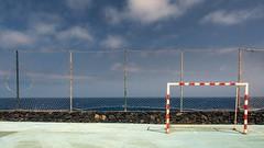Abandoned / Abandonado (López Pablo) Tags: goal rust sky blue cloud white green red fence lacaleta elhierro canary islands nikon d7200 urban