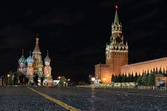 Moscow - Red square (Christian Wilt) Tags: russia moscow night nightshot kremlin longexposure church cathedral saintbasil tower