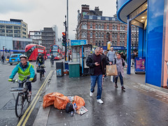 Tottenham Court Road. 20181017T16-09-59Z (fitzrovialitter) Tags: england gbr geo:lat=5151639000 geo:lon=012933000 geotagged holbornandcoventgardenward tottenhamcourtroad unitedkingdom peterfoster fitzrovialitter city camden westminster streets urban street environment london fitzrovia streetphotography documentary authenticstreet reportage photojournalism editorial daybyday journal diary captureone olympusem1markii mzuiko 1240mmpro microfourthirds mft m43 μ43 μft ultragpslogger geosetter exiftool rubbish litter dumping flytipping trash garbage
