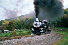 1286 Around Helmstedder's (DJ Witty) Tags: railroad locomotive photography passengertrain rr steamlocomotive alleghanycentral westernmarylandrailway maryland usa nikon n8008 fujichromevelvia