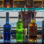 Spirits on shelf in the bar thumbnail