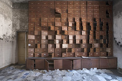 Manicomio di R (Sean M Richardson) Tags: abandoned asylum mail boxes canon photography decay italia hospital files classic exploration urbex