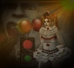 Mad Clown-Sad Clown (kristi Stevenson (KS Photography and Graphic Art S) Tags: irrisistible clown circus halloween halloween2018