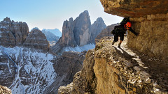 Schartensteig / Sentiero delle Forcelle - Trentino-Alto Adige / Veneto - Italia (Felina Photography - www.mountainphotography.eu) Tags: viaferrata klettersteig schartensteig sentierodelleforcelle trentinoaltoadige veneto italia dolomiti dolomites dolomieten dolomiten rock fels roccia climber hiker alps alpen alpi italy italië italien dreizinnen trecime paternkofel montepaterno