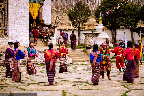 Ura Yakchoe at the Ura Lhakhang in Ura village