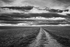 Intemperie (una cierta mirada) Tags: road path nature landscape clouds cloudscape bnw bw blackandwhite sky outdoors