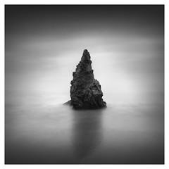 The Survivor (Marco Maljaars) Tags: longexposure seascape waterscape monochrome bw blackandwhite rock mood sky beach california elmatadorstatebeach le marcomaljaars water