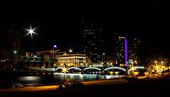 Star of ArtPrize (Leslie Victor) Tags: grandrapids michigan artprize cityscape moon nightlights grandriver