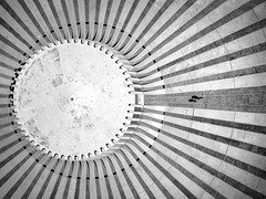 Two of us going nowhere (FX-1988) Tags: drone aerial aerialphotography dji mavic pro mavicpro jerusalem israel architecture black white top plan landscape lines people path kennedy cenotaph monument