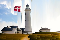 Hirtshals, DK (Kai Rennert) Tags: hirtshals dänemark denmark danmark lighthouse glitch databend pixelsort