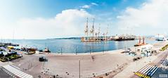 Port Of Koper (The Hobbit Hole) Tags: water port slovenia boats cranes koper clouds