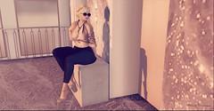 AMARA (Moni Carissa) Tags: imageessentials classicbeauty pose bento prop 7deadlyskins dusk blackfair fatalfashion top pants cely outfit 034 heels jewelry necklace earrings argracehair kiri backdropcity