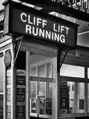 Cliff Lift Office (jhotopf) Tags: northyorkshire scarborough 50mmf18 d7000 nikon blancoynegro noiretblanc blackwhite