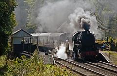 rolling into consall (midcheshireman) Tags: steam staffordshire train locomotive churnetvalley s160 railway