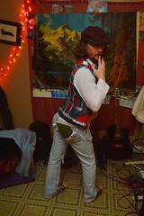 Uh oh! (radargeek) Tags: prairierebellion fashion fashionshow 2018 february houseparty roundabout okc oklahomacity jeans torn hole ripped plaid beard portrait