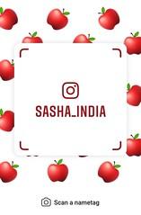 example of nametag for Instagram (Sasha India) Tags: instagram nametag instatag tag name sashaindia дизайн qrcode design 設計 디자인 التصميم σχέδιο डिज़ाइन வடிவமைப்பு desenhar projekt עיצוב desain apple