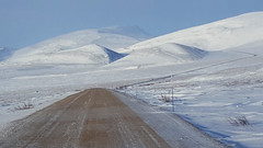 The Dempster Highway north of the Arctic Circle
