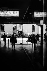 At the shoe shop (iamunclefester) Tags: münchen munich asatouristinmyhometown manualfocus manualfocusday street blackandwhite monochrome window windows windowpane shopwindow shop shoe museum deutschesmuseum alterpeter reflexion silhouette passage gangway dark bright contrast lamps light citycentre downtown