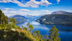 fjord fall (Geert E) Tags: norway ford water mountains fall clouds