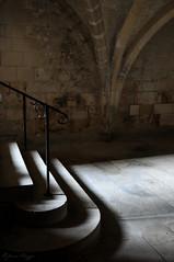 The light in the stairs (DameBoudicca) Tags: france frankreich frankrike francia フランス soissons saintléger abbey abbaye medeltiden middleages medioevo medieval edadmedia moyenâge mittelalter 中世 gothic gotik gotisk gótico gothique gotico ゴシック建築 crypt krypta cripta crypte 地下聖堂 ちかせいどう stairs trappa treppe escalera escalier scala 階段