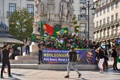 Lisbon 2018 – Supporters of Bolsonaro on the Praça Luis de Camões (Michiel2005) Tags: bolsonaro protest support supporters praçaluisdecamões plein camões lisbon lisboa lissabon portugal