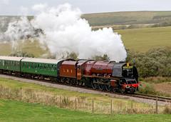 LMS Princess Coronation Class 6233 Duchess of Sutherland (chaz jackson) Tags: 46233 duchessofsutherland 462 lms pacific locomotive train engine swanage