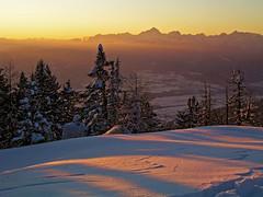 Dobrca sunset (Vid Pogacnik) Tags: slovenia slovenija kamnikandsavinjaalps dobrca dobrča outdoors skitouring tourskiing panorama landscape mountain sunset winter