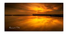 Sunrise on the Lagoon (RonnieLMills 5 Million Views. Thank You All :)) Tags: sunrise dawn early morning sun up man made lagoon high tide millisle beach calm waters reflections county down northern ireland seascape sunriseonthelagoon ronnielmills