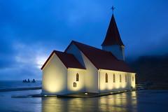 _U0A5852 (rjlaker) Tags: vik church iceland night illuminated stacks